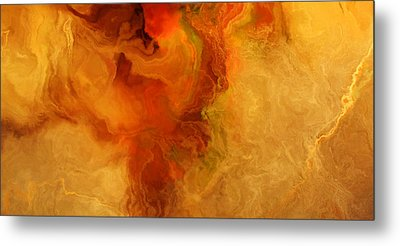 Warm Embrace - Abstract Art Metal Print by Jaison Cianelli