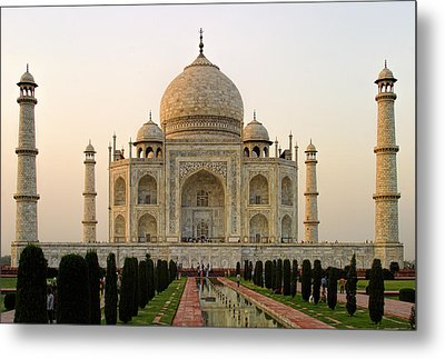 Warm Evening View Taj Mahal Metal Print