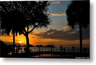 Warm Glowing Sunset Metal Print