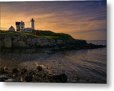 Warm Nubble Dawn Metal Print