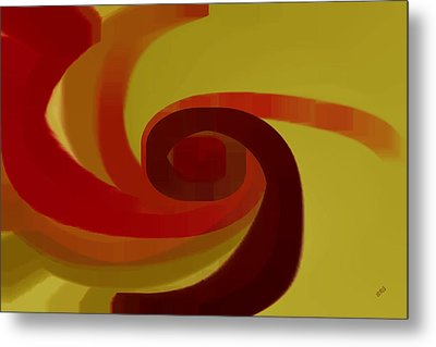 Warm Swirl Metal Print by Ben and Raisa Gertsberg
