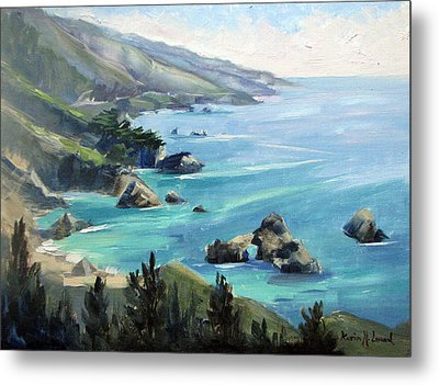 Warm Winter Day Big Sur Metal Print by Karin  Leonard