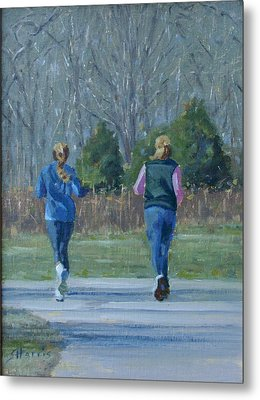 Warner Park Runners Metal Print
