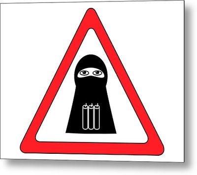 Warning Shahid Sign Metal Print by Aleksey Tugolukov