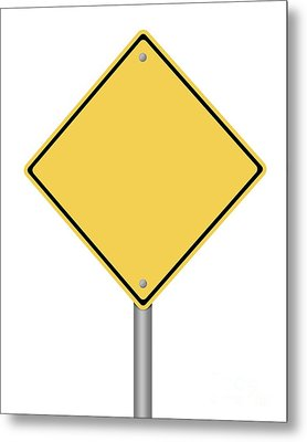 Warning Sign Metal Print by Henrik Lehnerer