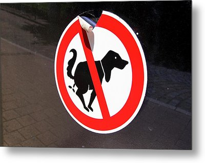 Warning To Dog Owners Metal Print by Mark Williamson
