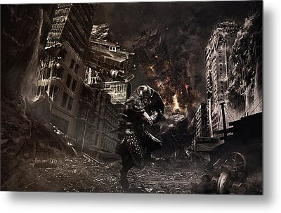 Warrior At The Time Of The Apocalypse Metal Print