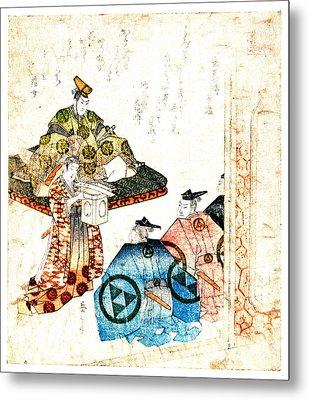 Warrior Hojo Yasutoki 1818 Metal Print by Padre Art