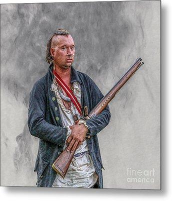 Warrior With Musket Portrait Metal Print by Randy Steele