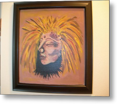 Metal Print featuring the painting Warrior Woman #1 by Sharyn Winters