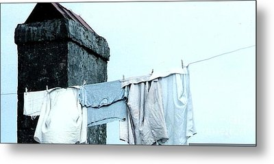 Metal Print featuring the photograph Wash Day Blues In New Orleans Louisiana by Michael Hoard