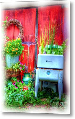 Washing Machine Art Metal Print by Mel Steinhauer