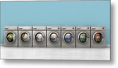 Washing Machine Full Single Metal Print by Allan Swart