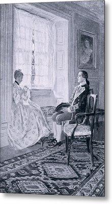Washington And Mary Philipse, Illustration From Colonel Washington By Woodrow Wilson, Pub Metal Print