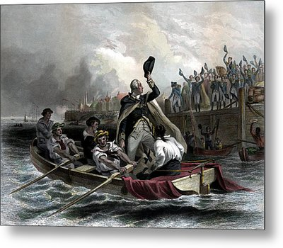 Washington Bids Adieu To His Generals  Metal Print by War Is Hell Store