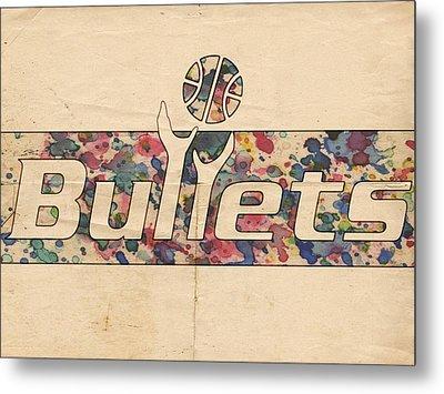 Washington Bullets Retro Poster Metal Print by Florian Rodarte