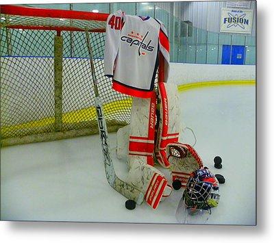 Washington Capitals Hockey Semyon Varlamov Away Jersey Metal Print