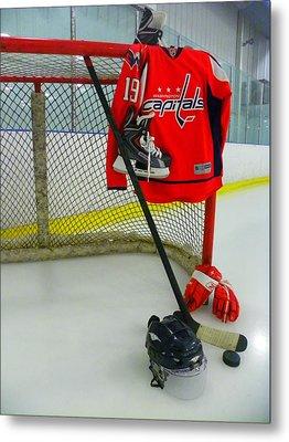 Washington Capitals Nicklas Backstrom Home Hockey Jersey Metal Print by Lisa Wooten