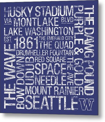 Washington College Colors Subway Art Metal Print