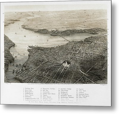 Washington, D.c., 1862 Metal Print by Granger