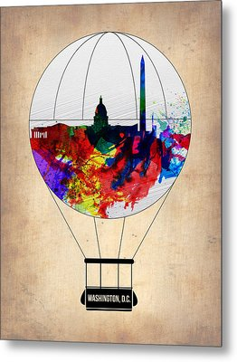 Washington D.c. Air Balloon Metal Print by Naxart Studio