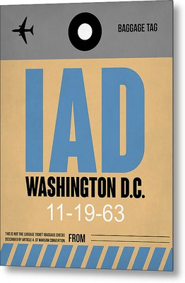 Washington D.c. Airport Poster 3 Metal Print by Naxart Studio
