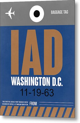 Washington D.c. Airport Poster 4 Metal Print