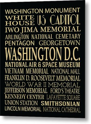 Washington D.c. Attractions Metal Print by Jaime Friedman