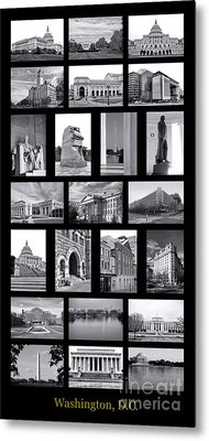Washington Dc Poster Metal Print by Olivier Le Queinec