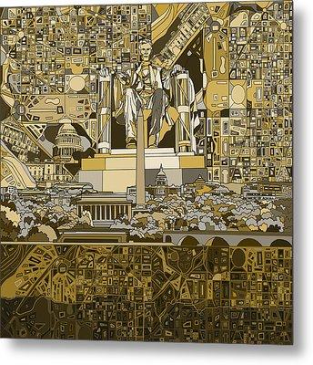 Washington Dc Skyline Abstract 4 Metal Print