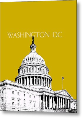 Washington Dc Skyline The Capital Building - Gold Metal Print by DB Artist