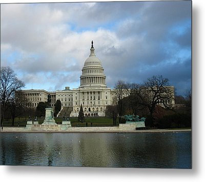 Washington Dc - Us Capitol - 12122 Metal Print by DC Photographer