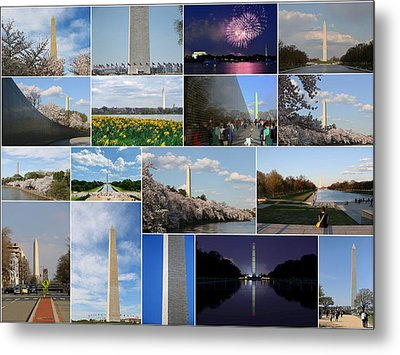 Washington Monument Collage 2 Metal Print by Allen Beatty