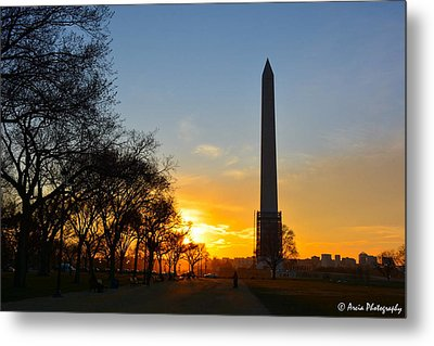 Washington Monument Under Repair Metal Print
