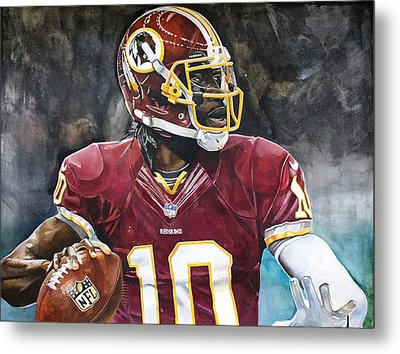 Washington Redskins' Robert Griffin IIi Metal Print by Michael  Pattison