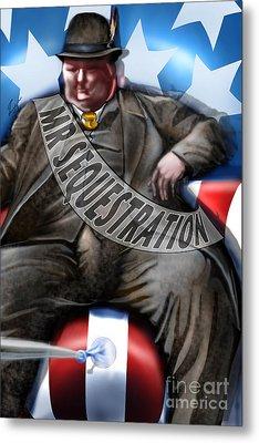Washington Sitting Down On The Job Metal Print by Reggie Duffie