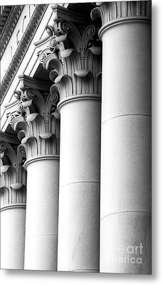 Metal Print featuring the photograph Washington State Capitol Columns by Merle Junk