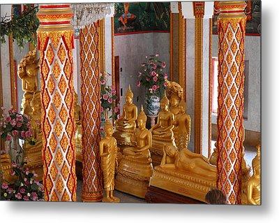 Wat Chalong - Phuket Thailand - 011317 Metal Print by DC Photographer