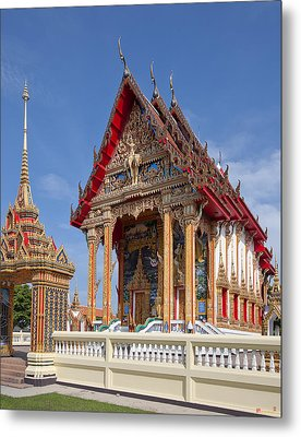 Metal Print featuring the photograph Wat Choeng Thalay Ordination Hall Dthp138 by Gerry Gantt