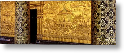 Wat Mai Luang Prabang Laos Metal Print by Panoramic Images
