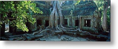 Wat Temple Complex Of Ta-prohm Cambodia Metal Print by Panoramic Images