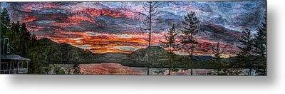 Watauga Lake Sunset Metal Print by Tom Culver