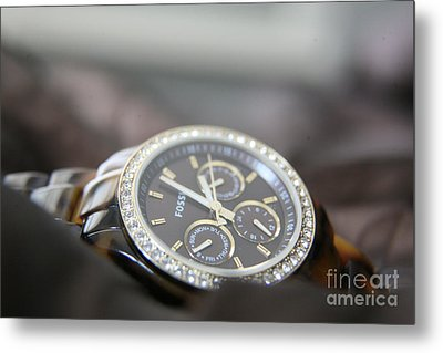 Metal Print featuring the photograph Watch Detail by Lynn England