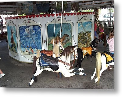 Metal Print featuring the photograph Watch Hill Merry Go Round by Barbara McDevitt