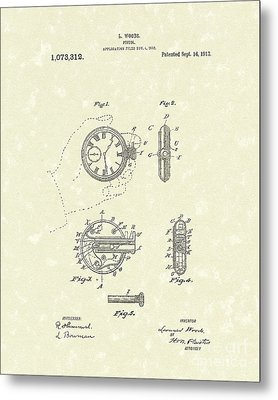 Watch Pistol 1913 Patent Art Metal Print