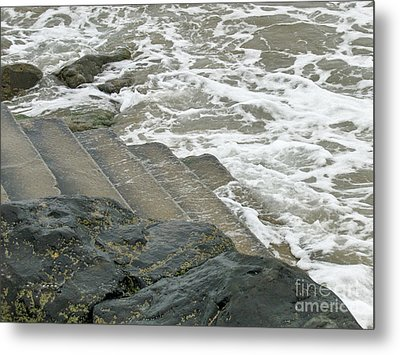 Metal Print featuring the photograph Watch Your Step by Brenda Brown