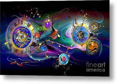 Watches In The Sky Metal Print by Franziskus Pfleghart