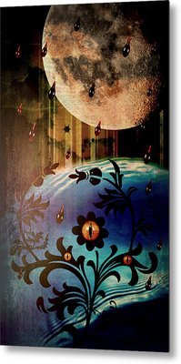 Metal Print featuring the mixed media Watching by Ally  White