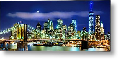 Watching Over New York Metal Print by Az Jackson