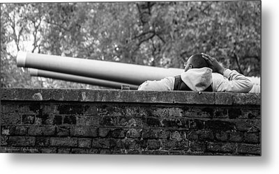 Metal Print featuring the photograph Watching The Guns by Ross Henton